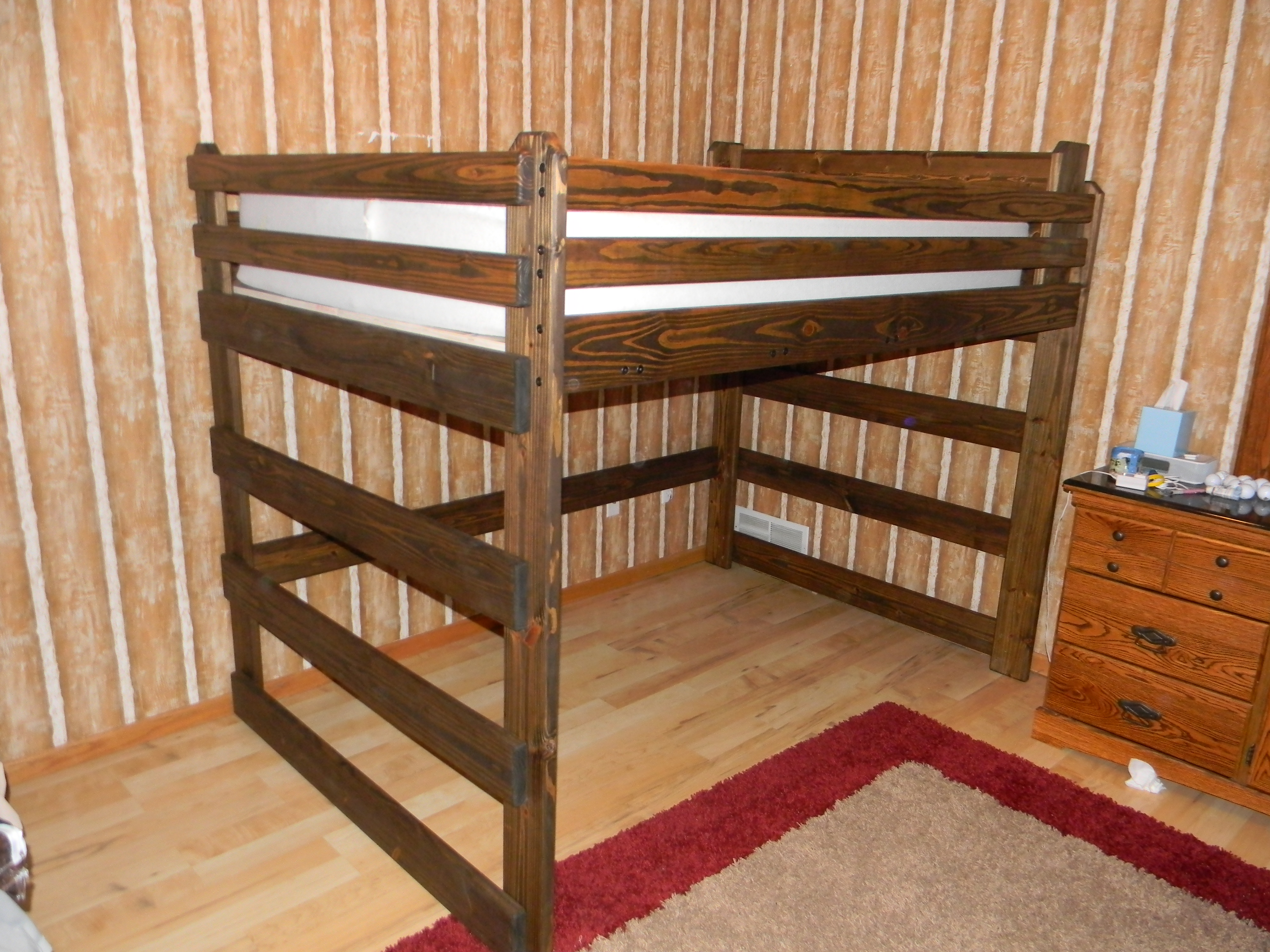 queen low ceiling bed set over custom twin graycoloradoriverbed bunk beds